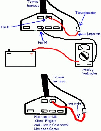 ford analog voltmeter ford troublecodes net GM OBD1 Wiring Diagram 1991 at readyjetset.co