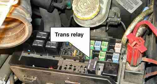 P0887 – Transmission control module (TCM) power relay