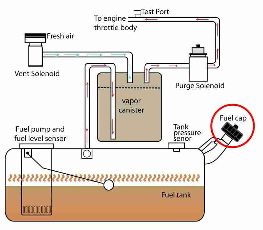 diagram further audi evap canister purge valve location in additionp0440 evaporative emission (evap) system malfunction diagram further audi evap canister purge valve location in addition