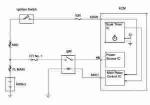 Engine timer schematic